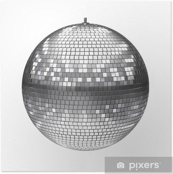 Plakát Disco koule izolovaných na bílém - Značky a symboly