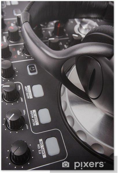 Plakat Dj mixer - Muzyka