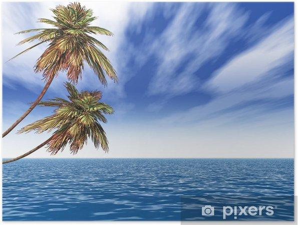 Plakat Dłonie - Drzewa