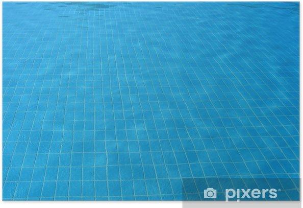 Plakát Dno a voda v modrém průhledném bazénu. pozadí - Vodní sporty