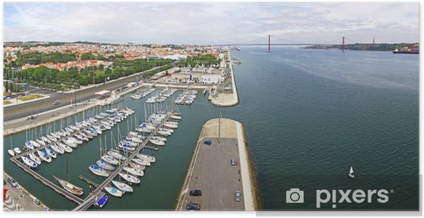 Plakát Doky na břehu řeky Tejo v Lisabonu - Město