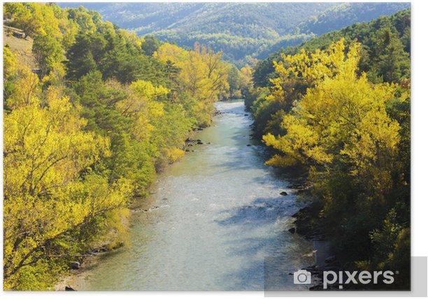 Plakat Dolina rzeki Verdon jesienią, Prowansja, Francja - Europa