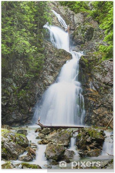 Plakat Dolna Nefcersky wodospad, Wysokie Tatry (Wysokie Tatry), Słowacja - Europa