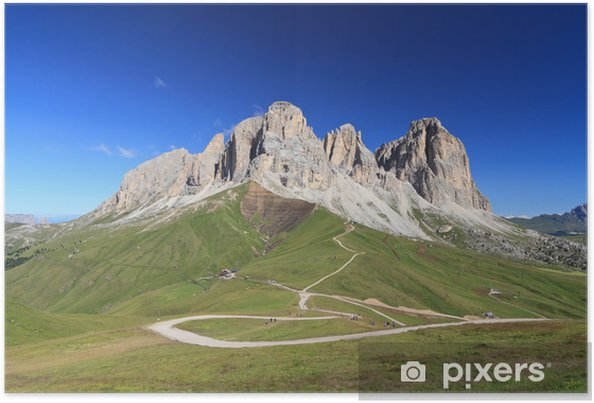 Plakát Dolomiti - Sassolungo mount - Evropa