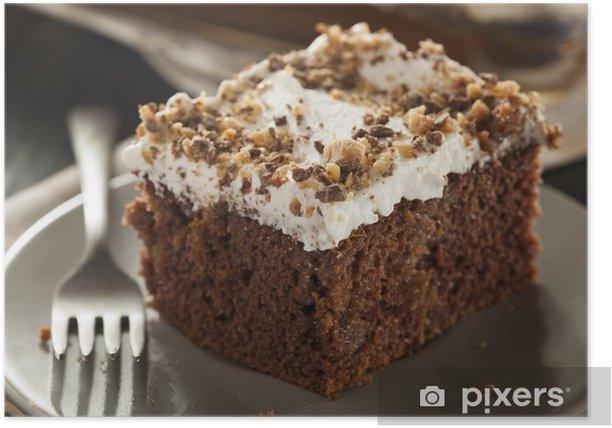 Plakát Domácí Toffee a čokoládový dort - Sladkosti a dezerty