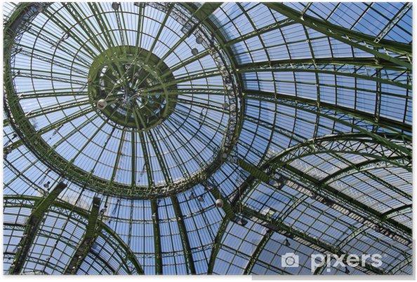 Plakát Dome a skleněná střecha na Grand Palais, Paříž, Francie. - Evropská města
