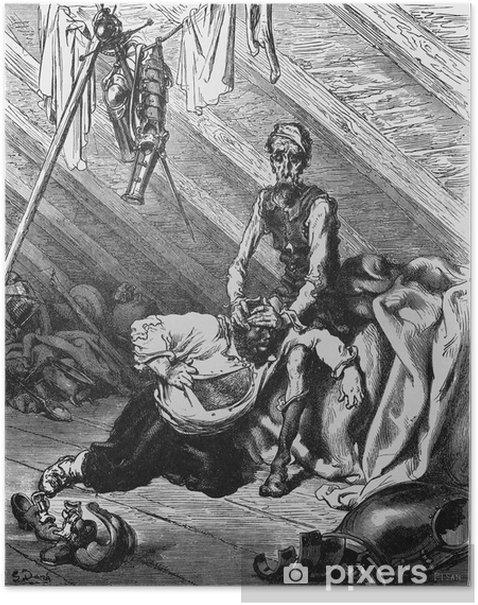 Plakát Don Quijote a Sancho v podkroví - Struktury