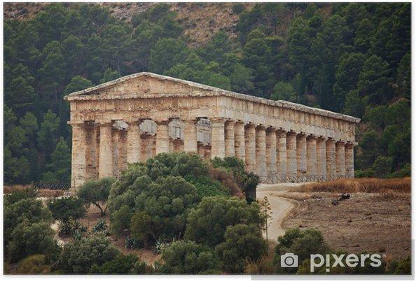 Plakát Doric chrám Segesta - Evropa