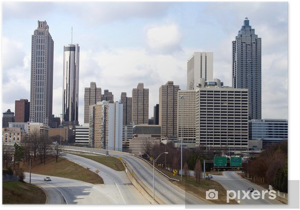 Plakát Downtown Atlanta Skyline - Jiné
