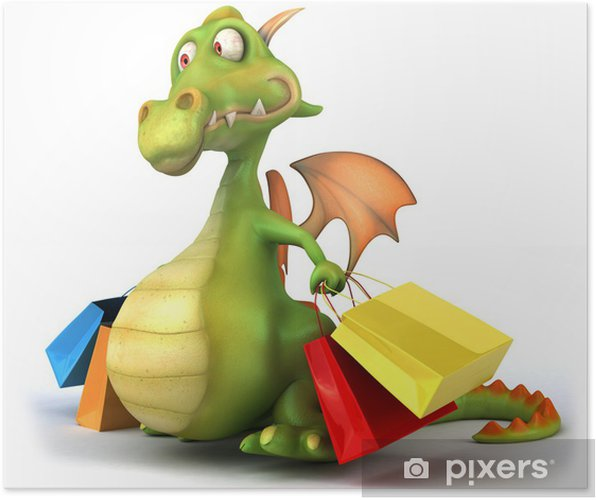 Plakát Dragon et nakupování - Značky a symboly