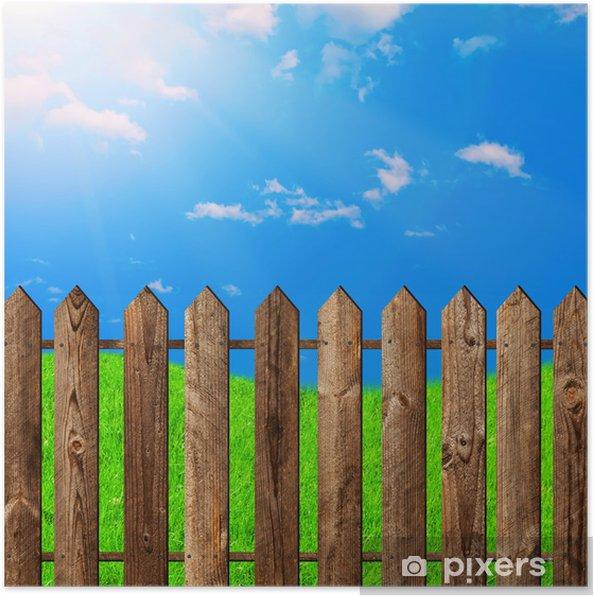 Plakát Dřevěný plot - Jiné