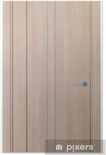 Plakat Drewniane drzwi na białym tle - Życie