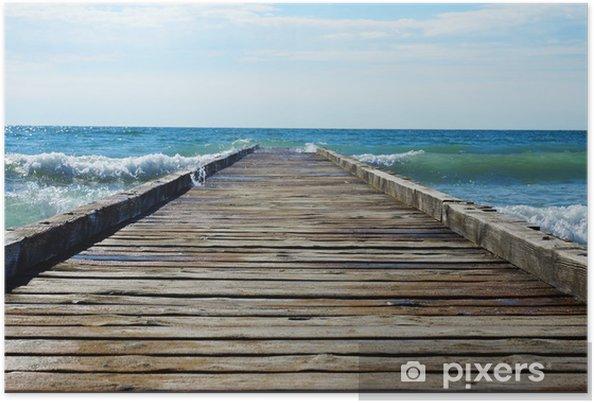 Plakat Drewniane molo prowadzące do błękitnego morza - Tematy