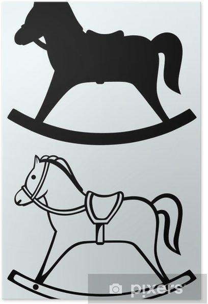 Plakat Drewniany koń na biegunach - Dom i ogród