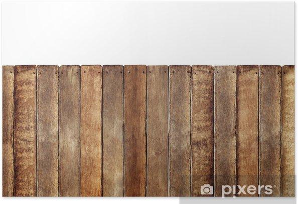 Plakat Drewniany płot - Cuda natury