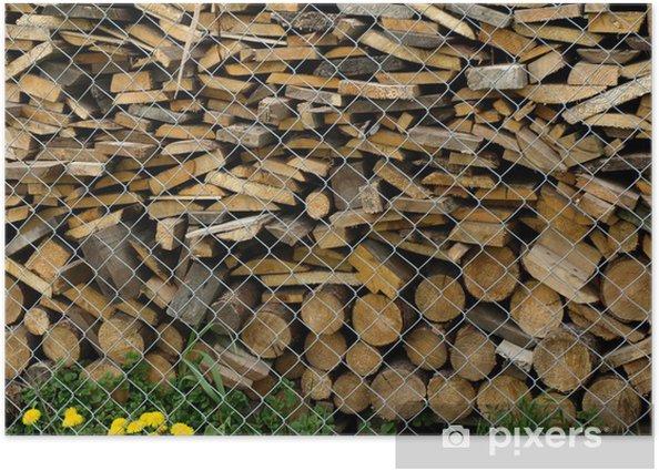 Plakat Drewno opałowe - Inne pejzaże