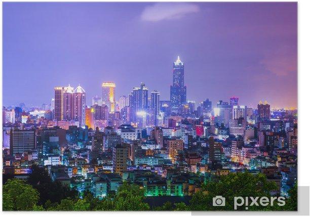 Plakat Drugie co do wielkości miasto Tajwanu - Kaohsiung - Azja