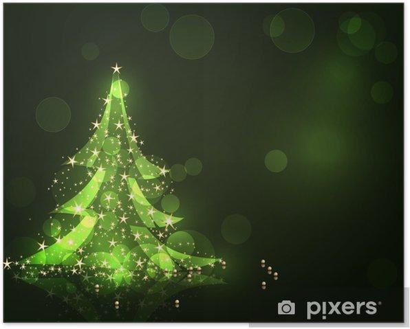 Plakat Drzewko świąteczne. ilustracji wektorowych dla projektu - Święta międzynarodowe