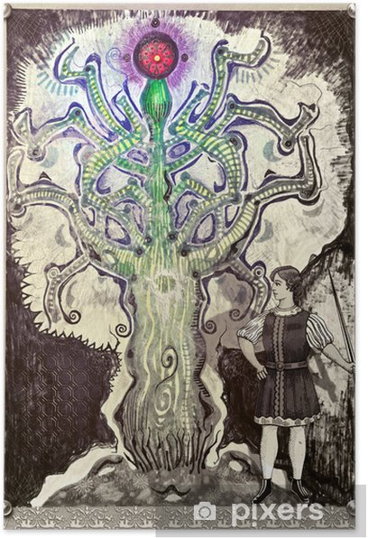 Plakat Drzewo życia - Ezoteryka