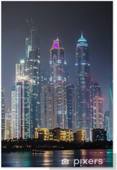 Plakat Dubai Marina cityscape, Zjednoczone Emiraty Arabskie - Bliski Wschód