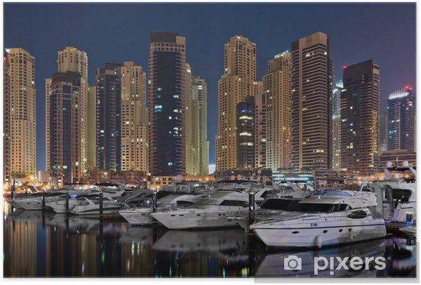 Plakát Dubaj marina - Střední Východ