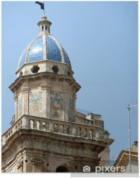 Plakat DUBROWNIK - kościół Santa Maria dell'Itria - XVIII wieku - Europa
