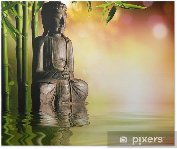Plakat Duchowe tło z Buddy azjatyckich kultury - Style
