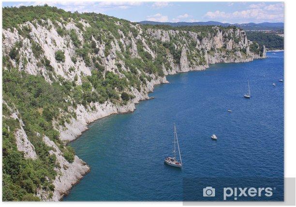 Plakat Duino, Trieste, klify - Wakacje