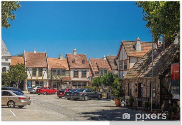 Plakat Duńskiej miejscowości Solvang w Kalifornii - Sklepy