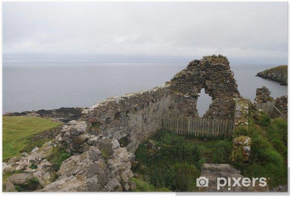 Plakat Duntulm zamek, Isle of Skye, Szkocja - Europa