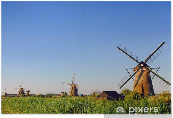 Plakat Dutch młyny 2 - Młyny i wiatraki
