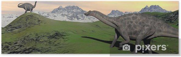 Plakát Dva dicraeosaurus dinosaurus - Témata