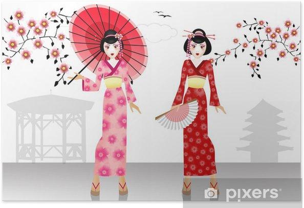 Plakát Dvě Gheise - Asie