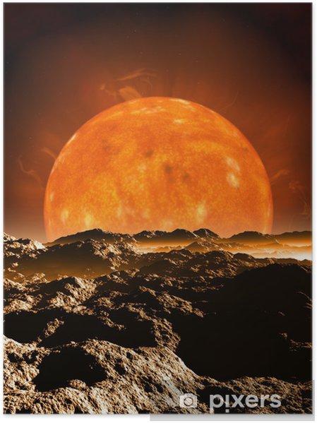 Plakat Dying Red Giant Sun - Przestrzeń kosmiczna