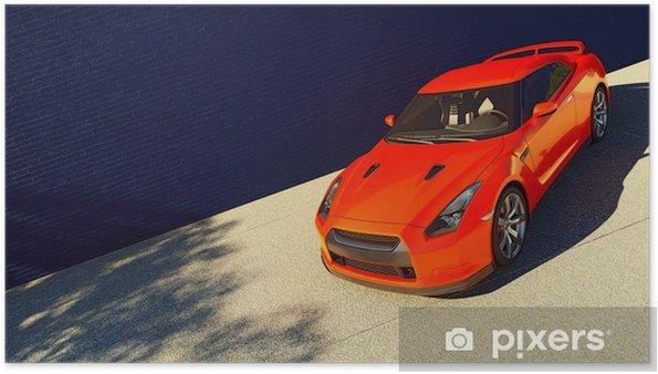 Plakát Dynamické zobrazení moderního vozu - Na cestě