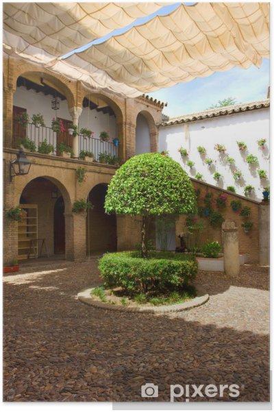 Plakat Dziedziniec Cordoba, Andaluzja, Hiszpania - Zabytki
