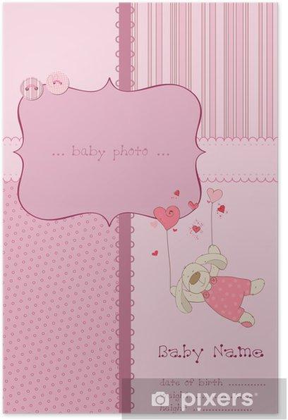 Plakat Dziewczyna Karta Dziecko przyjazdu z ramki i miejsce dla tekstu - Świętowanie