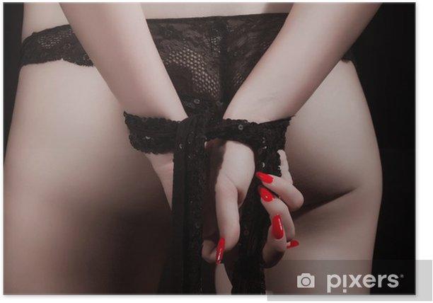 Plakat Dziewczyna z rękami skrzyżowanymi - Uroda i pielęgnacja ciała