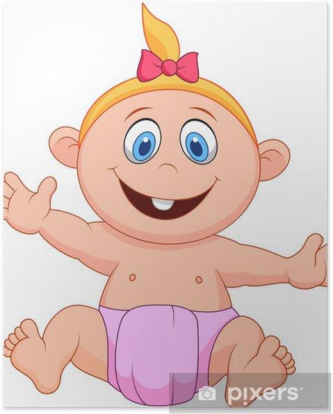 Plakat Dziewczynka dla dzieci kreskówki - Dzieci