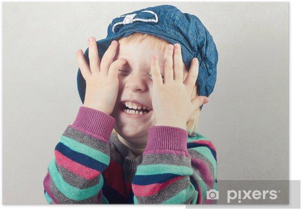 Plakat Dziewczynka obejmuje twarz w dłoniach - Tematy
