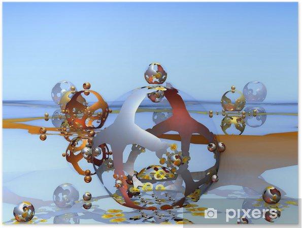 Plakat Dziwne światy. Bagno - Abstrakcja