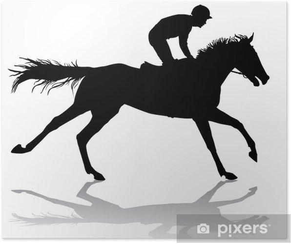 Plakat Dżokej na koniu 6 - Mężczyźni
