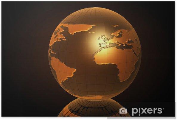 Plakát Earth (3D) - Prvky podnikání