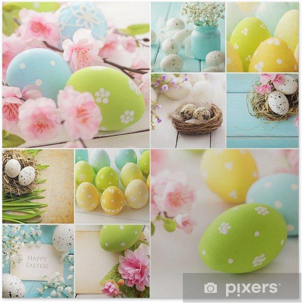 Plakat Easter collage - Święta międzynarodowe