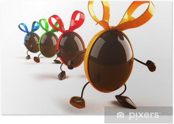 Plakat Easter eggs - Znaki i symbole