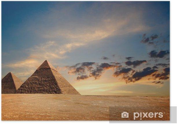 Plakát Egyptské pyramidy - Afrika