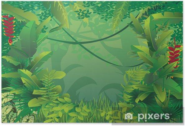 Plakat Egzotyczne lasów tropikalnych - Rośliny