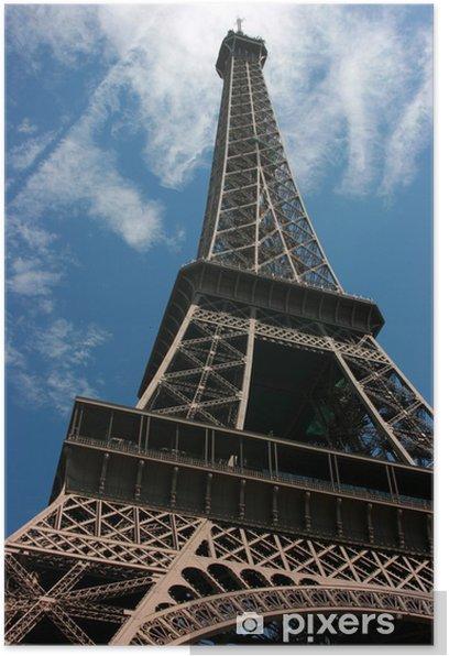 Plakat Eiffel Tower, szeroki kąt widzenia - Zabytki
