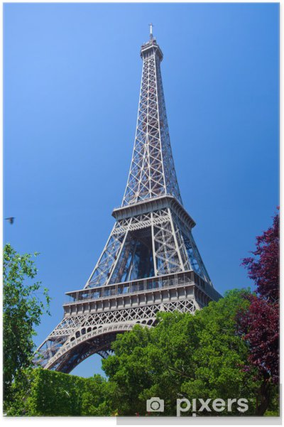 Plakát Eiffelova věž, Paříž. Francie - Evropská města