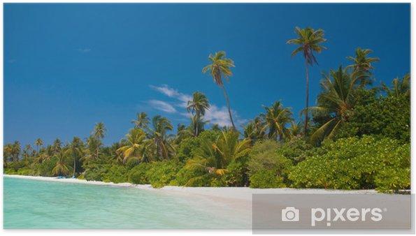 Plakát Einsamer tropischer Strand auf den Malediven - Prázdniny